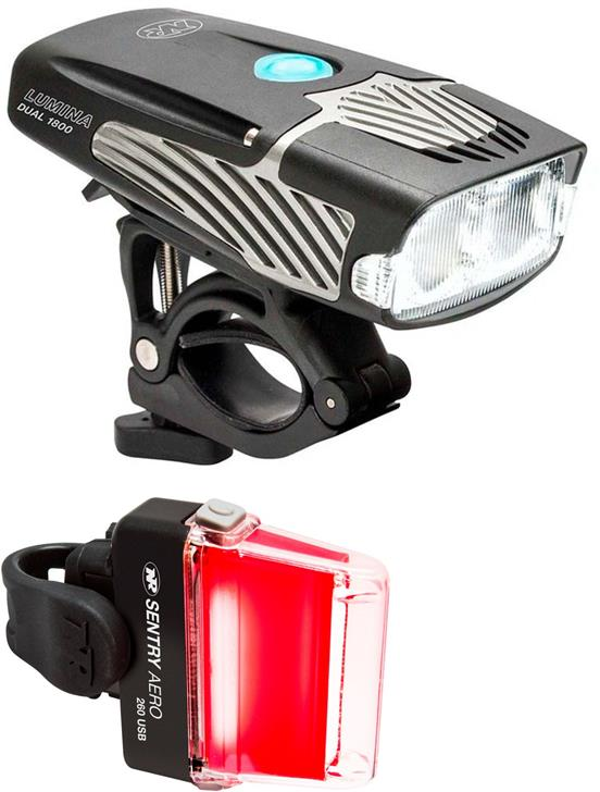 Gearflogger reviews the NiteRider Lumina 1800 and Aero 260 bike lights