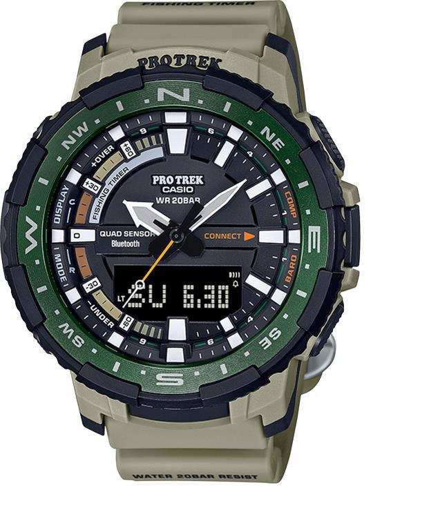 Gearflogger reviews the Casio Pro Trek PRT-B70 fishing watch
